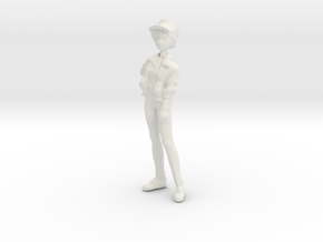 1l32 Racing Staff Female Mechanic in White Natural Versatile Plastic
