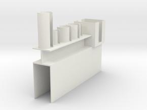 Vial Stand, Rev 1 in White Natural Versatile Plastic