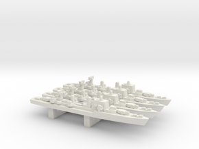 Halland-class destroyer x 4, 1/3000 in White Natural Versatile Plastic
