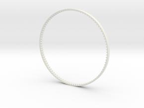 GT2 Belt 90 teeth 3mm wide in White Natural Versatile Plastic
