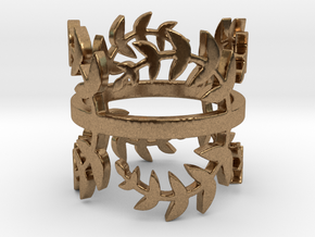 Laurel Leaves (Ring Size 4-11.25)  in Natural Brass: 4.25 / 47.125
