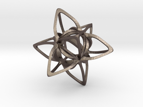 Merkaba Curvacious P in Polished Bronzed Silver Steel