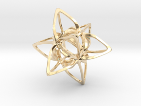 Merkaba Curvacious P in 14k Gold Plated Brass