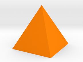 Pyramid Shape in Orange Strong & Flexible Polished