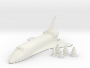 Space Shuttle + Your name  in White Natural Versatile Plastic