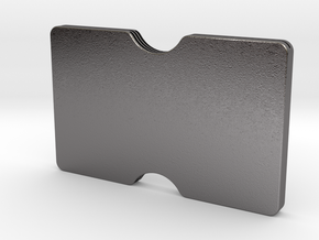 Slimline 3 card wallet in Polished Nickel Steel