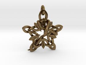 Snake in Interlocking Polished Bronze