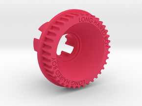 10mm 38T Pulley For Flywheels in Pink Processed Versatile Plastic