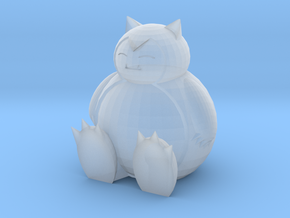 Snorlax Sitting in Smooth Fine Detail Plastic