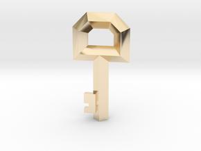 Small Key Replica  (Legend of Zelda, 1986) in 14k Gold Plated Brass