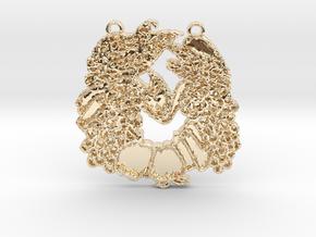 Abundance Horseshoe 1 by Gabrielle in 14k Gold Plated Brass