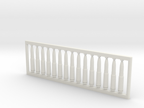 13x64 mm 1:6 scale  x15 in White Natural Versatile Plastic: 1:600