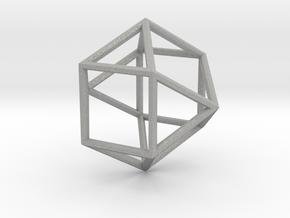Cube Octohedron - 5cm in Aluminum