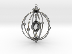 A Peachy Ornament in Polished Silver