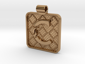 Saxon Pendant C in Polished Brass
