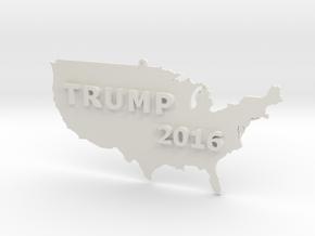Trump 2016 USA Ornament in White Natural Versatile Plastic