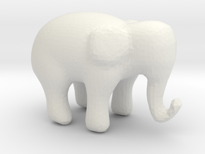 Elephant small in White Natural Versatile Plastic