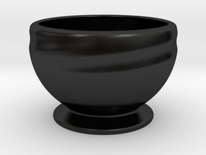 Hemiswirl Bowl in Matte Black Porcelain