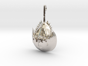 Horseshoe Crab Pendant in Rhodium Plated Brass