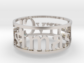Napking Ring for Christmas in Rhodium Plated Brass: 6 / 51.5