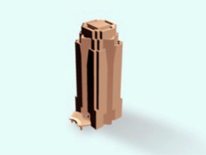 "Nakatomi Tower ""Die Hard"" (Century City, CA) in White Natural Versatile Plastic"