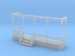 Miniature 1:48 Victorian Front Porch in Frosted Ultra Detail