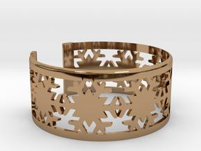 Snowflake Bracelet Medium in Polished Brass