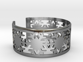 Snowflake Bracelet Medium in Polished Silver