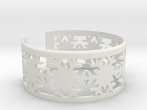 Snowflake Bracelet Large in White Natural Versatile Plastic