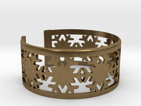 Snowflake Bracelet Large in Natural Bronze