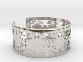 Snowflake Bracelet Large in Rhodium Plated Brass