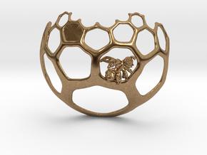 Honeycomb Pendant - Sweet Math! in Natural Brass