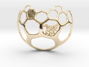 Honeycomb Pendant - Sweet Math! in 14k Gold Plated Brass