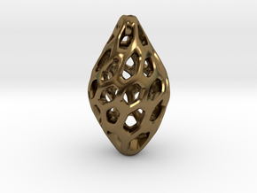 HONEYBIT Twist Pendant in Polished Bronze