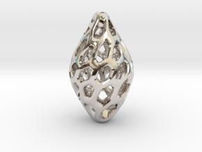 HONEYBIT Twist Pendant in Rhodium Plated Brass