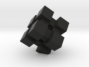 WeightCube Paperweight in Black Natural Versatile Plastic