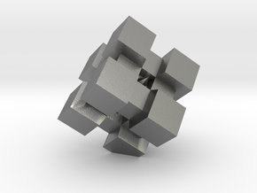 WeightCube Paperweight in Natural Silver