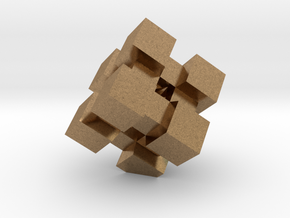 WeightCube Paperweight in Natural Brass