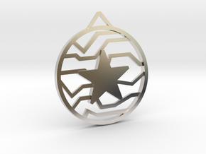 Winter Soldier Star Pendant (Medium) in Rhodium Plated Brass