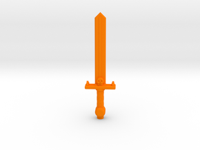 ROTU Skeleton Sword in Orange Processed Versatile Plastic