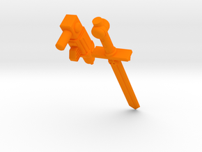 ROTU Skeleton Accessory set  in Orange Processed Versatile Plastic