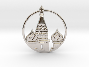 Kremlin Russia in Rhodium Plated Brass