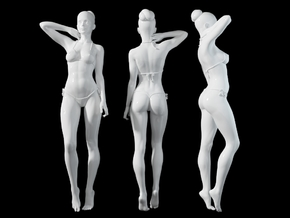 1:24 1:10 Bikini Girl 015 in White Natural Versatile Plastic: 1:10