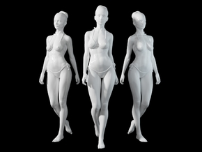 1:24 1:10 Bikini Girl 017 in White Natural Versatile Plastic: 1:10