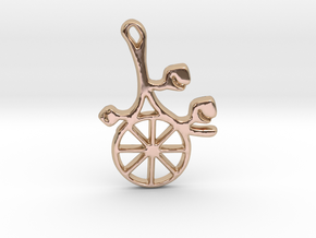 Earthly Spring Year Wheel by ~M. in 14k Rose Gold Plated Brass