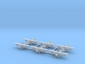 Hawker Hart 1/700 (6 airplanes) in Smooth Fine Detail Plastic