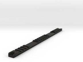 Am-013 Custom Rail, Blank in Black Natural Versatile Plastic