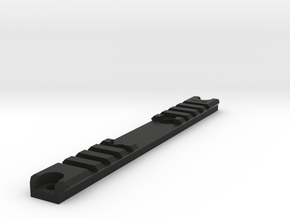 Am-013/014 Custom Rail, Blank, Short in Black Natural Versatile Plastic