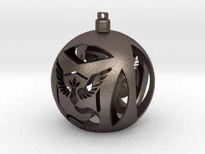 Team Mystic Christmas Ornament Ball in Stainless Steel