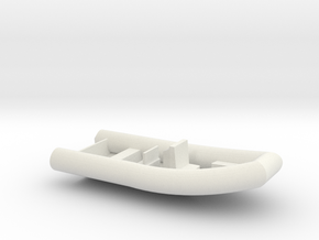 Rigid Inflatable Boat in White Natural Versatile Plastic: 1:50